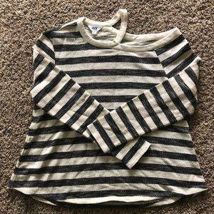 Jack Stripe Open Shoulder Sweater